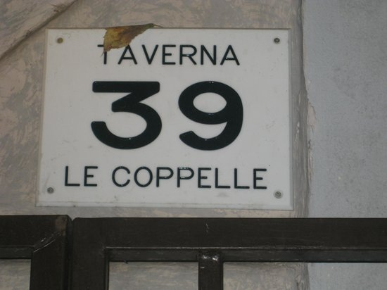 Taverna Le Coppelle: Now we'll always know where it is