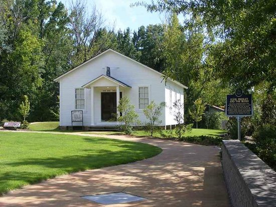 Elvis Presley Birthplace & Museum: The First Assembly of God Church where the the young Elvis Presley worshiped.