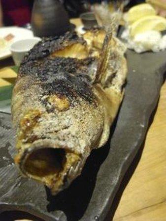 Nihombashi Suminoe: いさき原始焼き