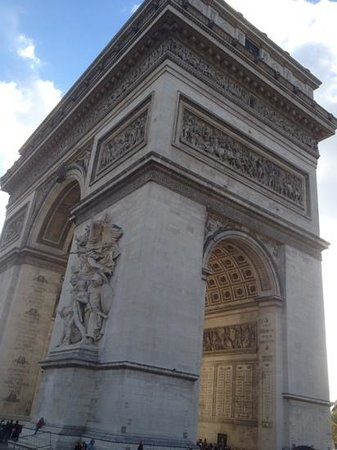 Paris City Vision: el arco de triunfo. el centro del champs elyssee