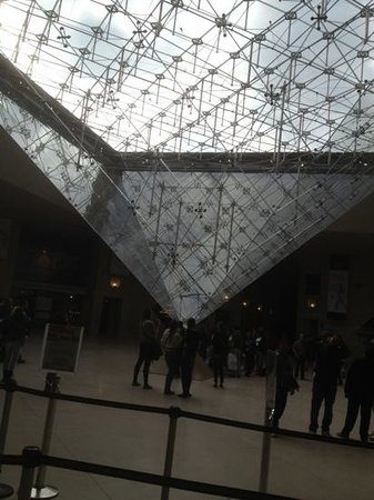 Paris City Vision: louvre. la piramide invertida