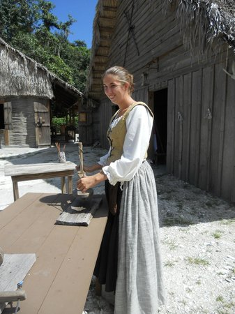 Fort Menendez at the Old Florida Museum: Our tour Guide