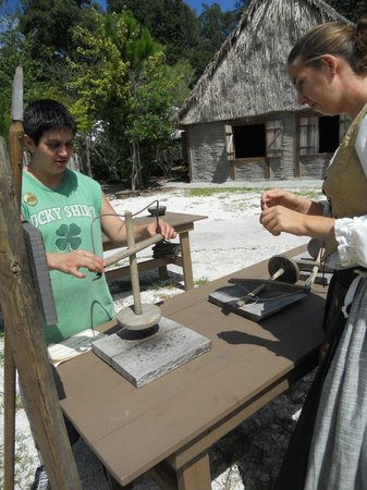 Fort Menendez at the Old Florida Museum: some kind of tool...to make holes