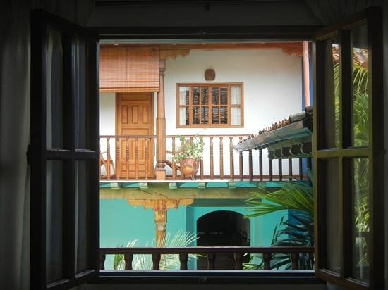 Miss Margrit's Guest House: the view out our window