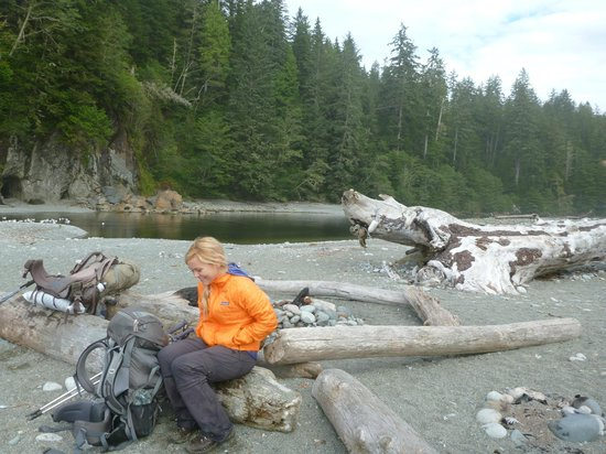 West Coast Trail: After fording the river