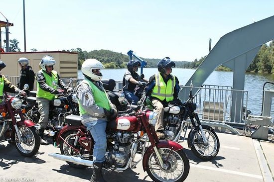 Timetravellers Motorcycle Tours & Events - Day Tours: Crossing the Hawkesbury River on the Wisemans Ferry punt