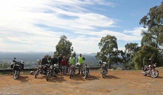 Timetravellers Motorcycle Tours & Events - Day Tours: Bimbadeen Lookout, overlooking Wine Country