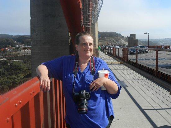 สะพานโกลเดนเกท: me on The Golden Gate Bridge