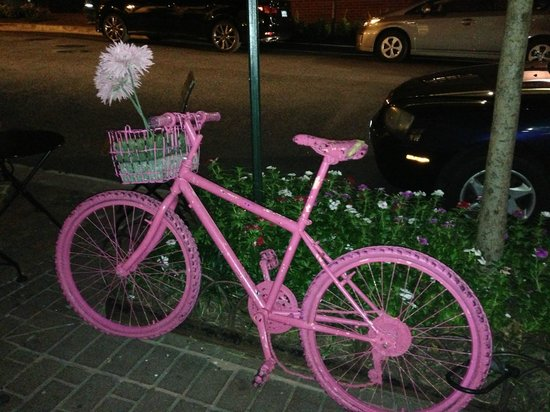 Baked and Wired: Pink bike outside