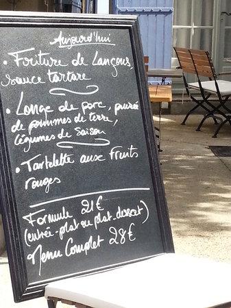 Le clos Saint-Roch: menu suggestions