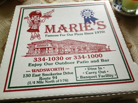 Marie's Pizza & Chicken: I think that they did a good job designing their box.