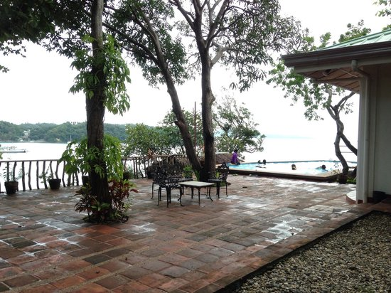 Punta Del Este: The swimming pool overlooks the bay