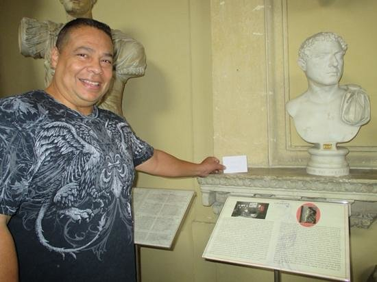 Italy Rome Tour: Busts of previous Rulers/Popes of Rome...Hubby says he is next.