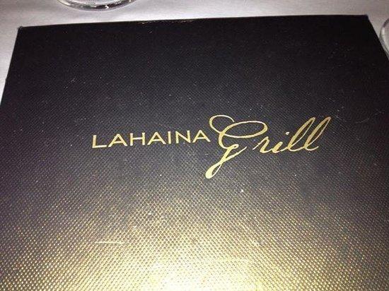 Lahaina Grill: Menu