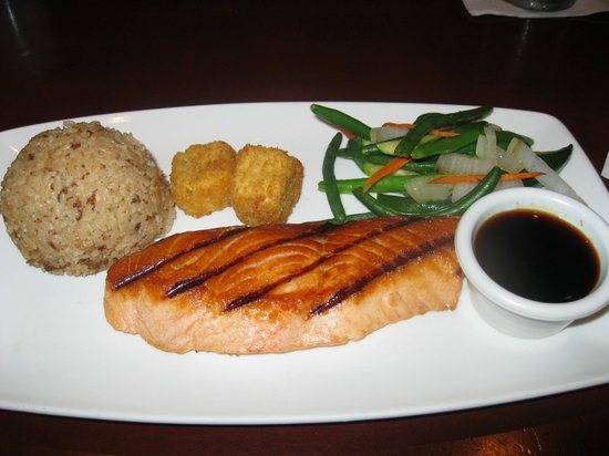 Tokyo Dining: My husband's grilled salmon entree