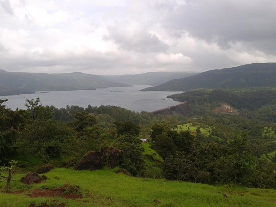 Koyna Dam view from MTDC Lake resort