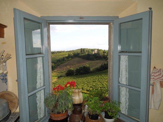 Borgo Argenina: Kitchen looking out
