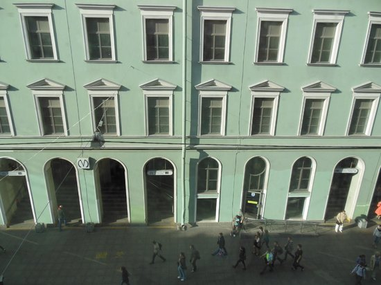 Nevsky Inn 1 Bed and Breakfast: view from the room to the metro entrance
