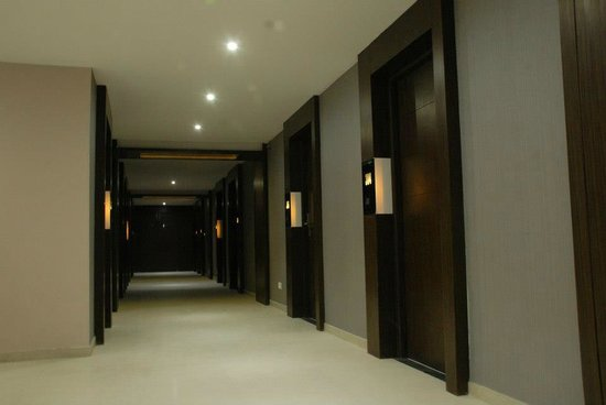 Vijay Park inn: Corridor