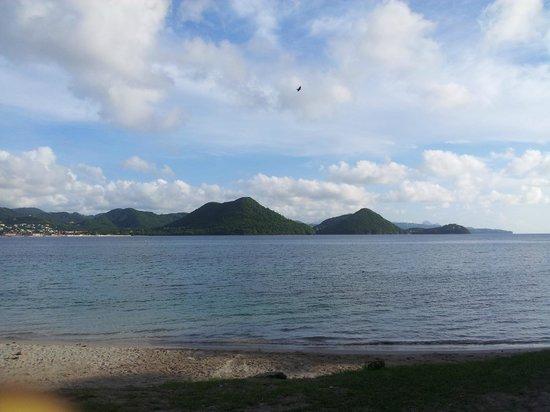 Coco Palm Resort: Pigeon Island from afar