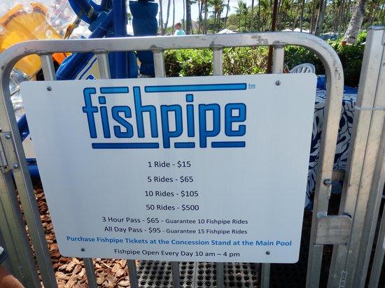 Grand Wailea - A Waldorf Astoria Resort: Fishpipe Pricing