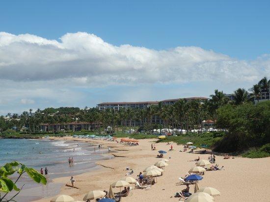 Grand Wailea - A Waldorf Astoria Resort: Beach area in front of the Grand Wailea