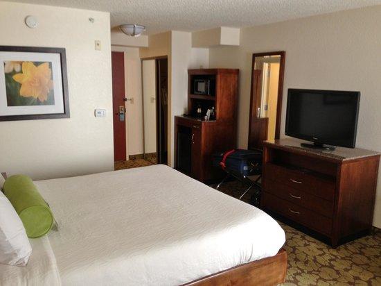 Hilton Garden Inn Orlando Airport: Good size, clean and comfortable.