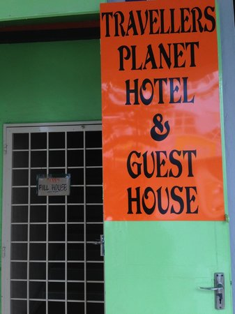 Travellers Planet Hostel: main door