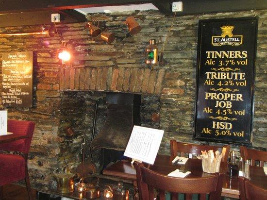 The London Inn: Fireplace