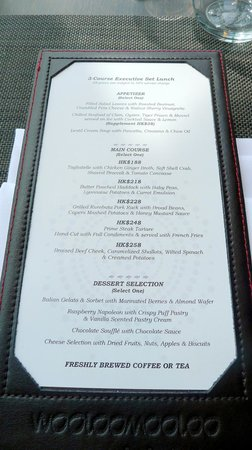 Wooloomooloo Prime (Tsim Sha Tsui): Executive Set Lunch Menu