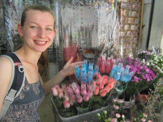 ถนนตลาดดอกไม้: цветочный рынок в Гонконге
