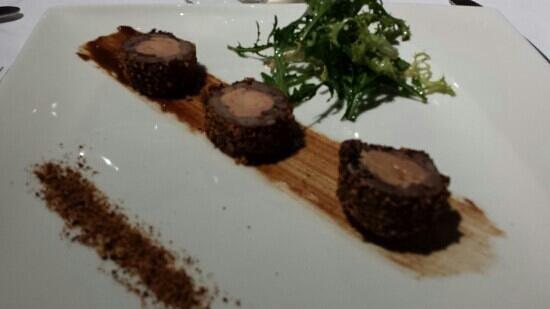 Le carillon: jarret de boeuf au foie gras et pain d'épices