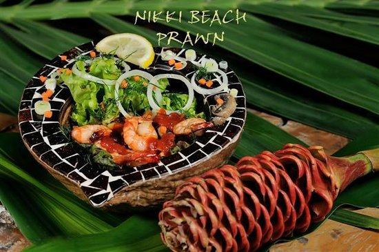 La Plage: NIKKI BEACH PRAWN