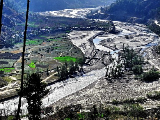 Hatkeshwari Mata Temple Complex: Beautiful 'Pabbar Valley', Pabbar River flowing through Rohru