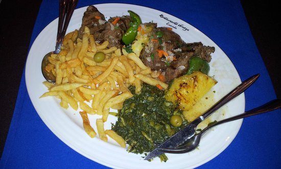 Restaurante Veneza: Steak chunks on the dish