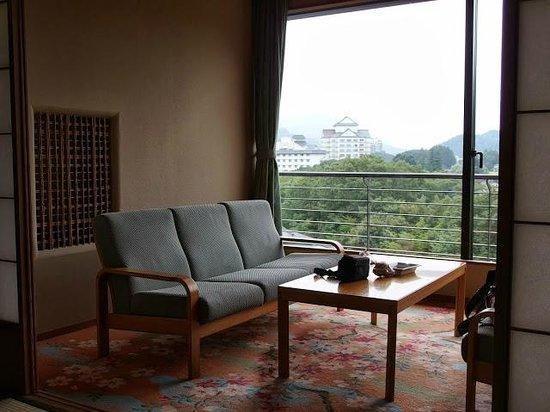 Hotel Zuiho Sakura rikyu: 房間外的景色不錯