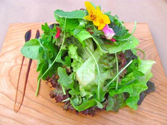 Ceraldi: Mixed green with nasturtiums