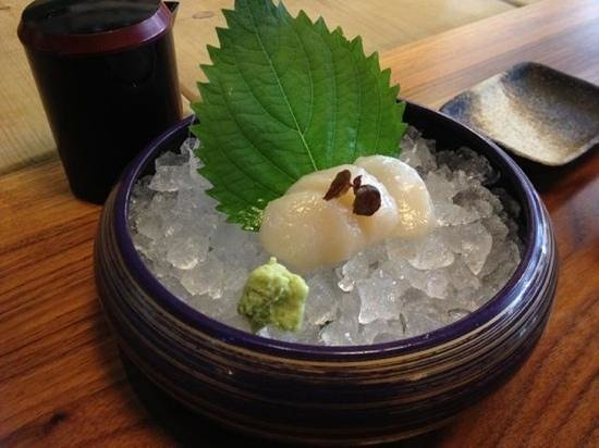 So Restaurant: scallop sashimi