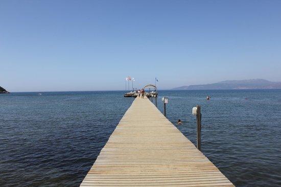 อควา แฟนตาซี แลนด์: Pier from beach