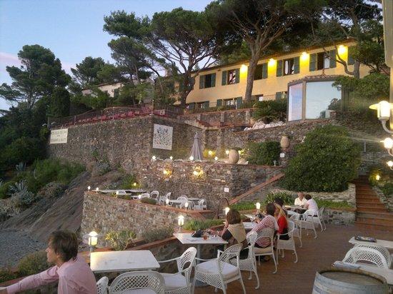 Relais des Trois Mas et Restaurant La Balette: du restaurant , vue de la chambre