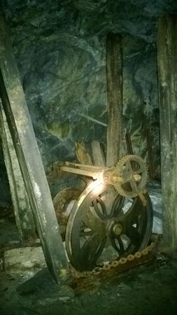 Corris Mine Explorers: An old winch underground