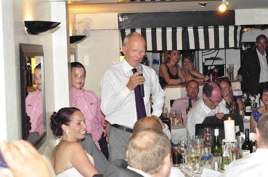 Butlers Restaurant, bar & terrace: Father of the Bride