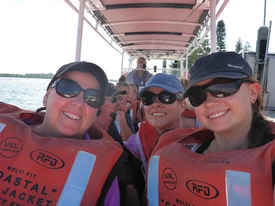 Port Macquarie Cruise Adventures: Debbie , Helen and Ebony having an awesome time