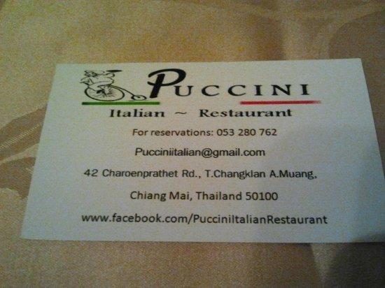 พุชชินี่ อิตาเลี่ยน เรสเตอรองท์: puccini
