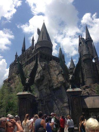 The Wizarding World of Harry Potter: entrada do castelo