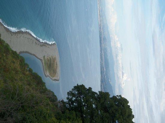 Sanctuary of the Madonna di Tindari : Lingua di sabbia vista dall'alto