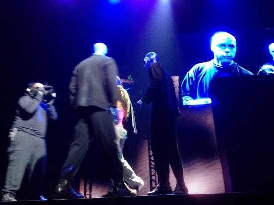 Blue Man Group: durante o espetaculo