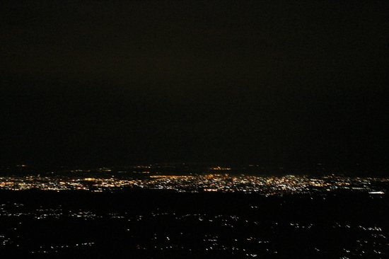 Birds View Kasauli: Night view from roof of the resort