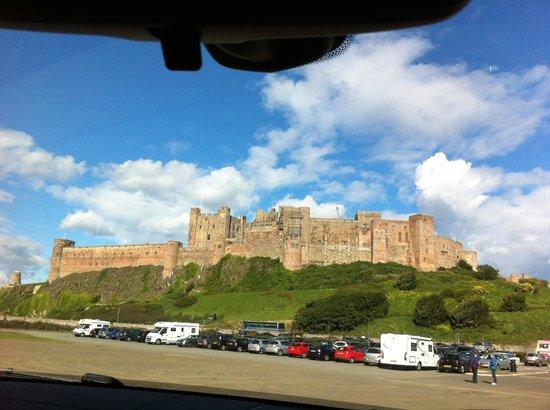 Bamburgh Castle: Castle from car park