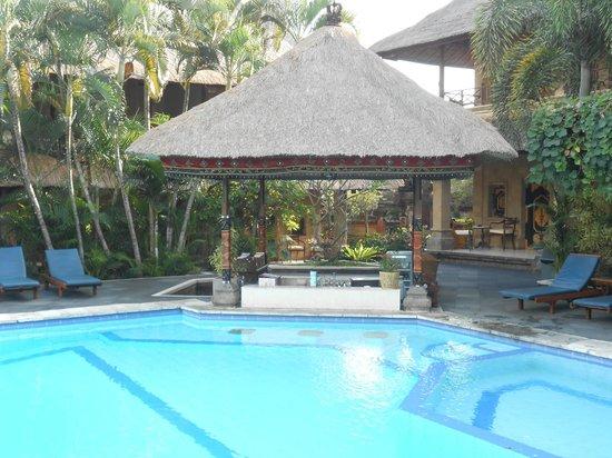 โรงแรมบาหลี อากุง วิลเลจ: la piscine et son bar